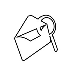 Letter with magnifying glass icon vector