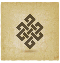 Shrivatsa endless knot vintage background vector
