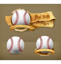 Baseball icon vector