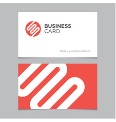 business card 03 vector image