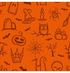 Retro graphical halloween pattern vector