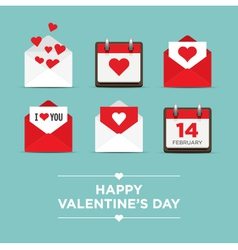 Valentines day set icons vector