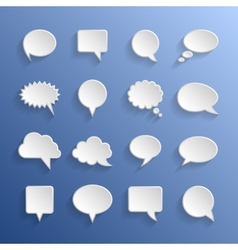 Paper speech bubbles vector