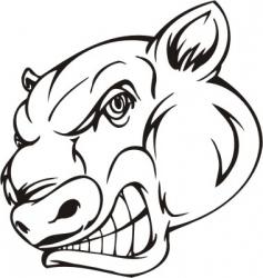 mascot templates vector image