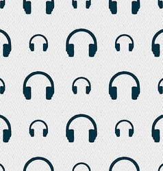 Headsets icon sign seamless pattern with geometric vector