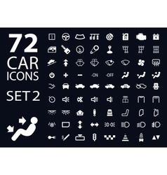 Collection of white car dashboard panel vector