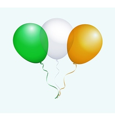 Balloons in green white orange as ireland national vector