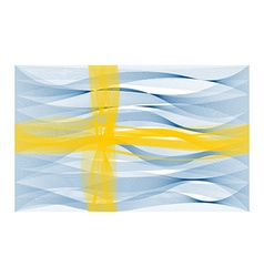 Wave line flag of sweden vector