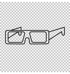 Glasses line icon vector