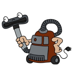 Funny vacuum cleaner vector