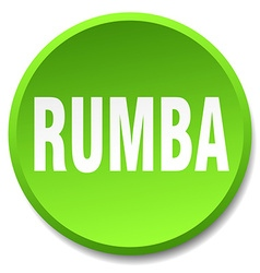Rumba green round flat isolated push button vector