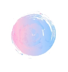 Rose quartz and serenity circle vector