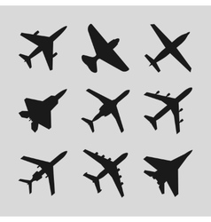 Airplane aircraft icons vector image