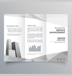 Amazing trifold brochure design with business on vector