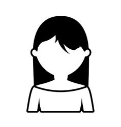 Avatar woman style modern outline vector