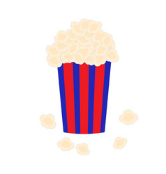 bucket full of popcorn vector image vector image