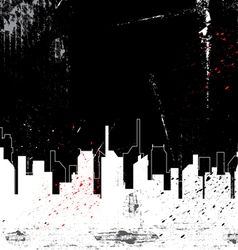 city and grunge background vector image vector image