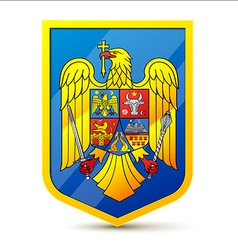 Coat of arms of romania vector