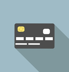 Credit card long shadow vector image