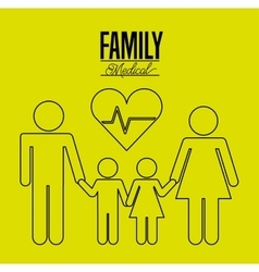 family medical design vector image