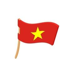 Flag of Vietnam icon cartoon style vector image