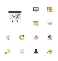 flat icons deadline paper mark and other vector image vector image