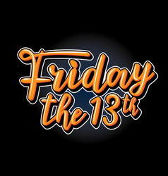 Friday the 13th vector