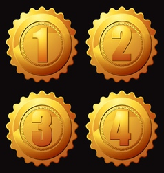 gold rank medallion vector image