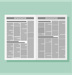 graphical design newspaper template vector image vector image