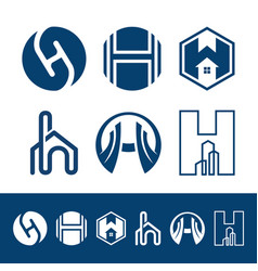 h letter property and construction logo vector image