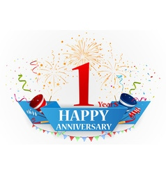 Happy Anniversary celebration vector image vector image