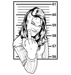 Inmate Girl Anarchist vector image