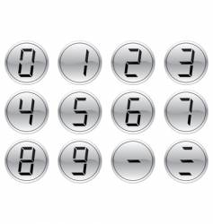 liquid crystal digits icons vector image vector image