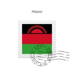 Malawi flag postage stamp vector