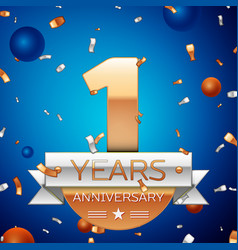 one years anniversary celebration design vector image