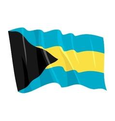 Political waving flag of bahamas vector