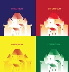 pop art castle vector image vector image