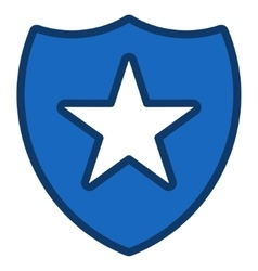 Shield star toolbar icon vector