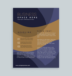 Stylish brown and blue brochure flyer design in vector