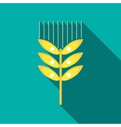 Wheat ear icon in flat style vector image