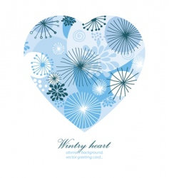wintry heart vector image vector image