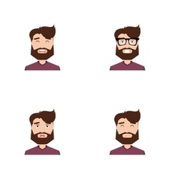 Cute men face vector