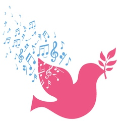 Musical bird vector