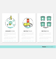 Garbage waste recycling business brochure template vector