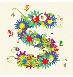letter S floral design vector image