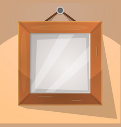 Cartoon wood frame vector