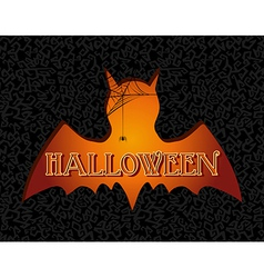Happy halloween text spooky vampire eps10 file vector