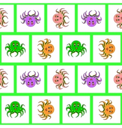 Design seamless colorful octopus pattern vector