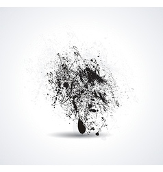 Ink pen and ink blot on the white background vector