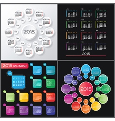 2015 Calendar set vector image vector image